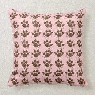 かわいい犬の足のピンク犬のベッド クッション