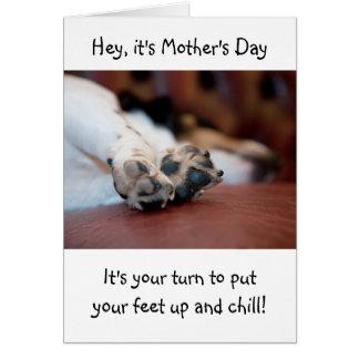 かわいい犬の足の母の日カード カード