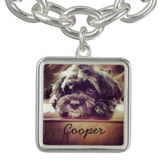 かわいい犬カスタムなペット写真のチャームブレスレット チャームブレス