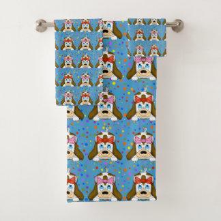 かわいい犬タオルセット バスタオルセット