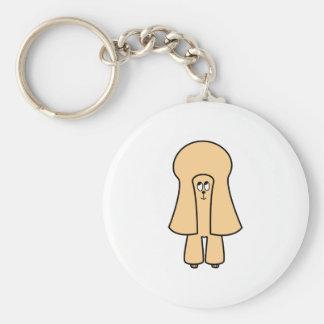 かわいい犬。 杏子のトイプードル/ミニチュアプードル キーホルダー