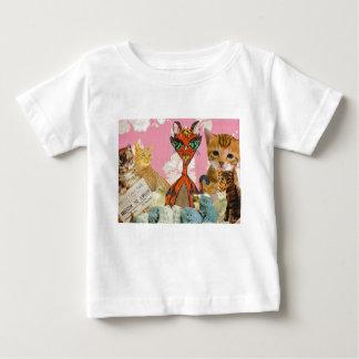 かわいい猫のコラージュ2 ベビーTシャツ