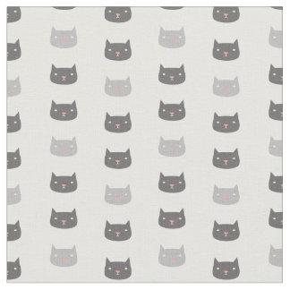 かわいい猫のパターン(の模様が)あるな生地 ファブリック