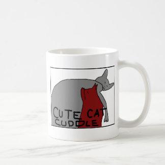 かわいい猫の抱擁 コーヒーマグカップ