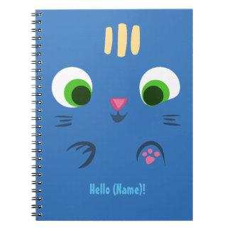 かわいい猫の挨拶のノート ノートブック