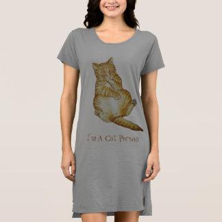 かわいい猫の睡眠のショウガの子ネコの芸術のデザイン ドレス