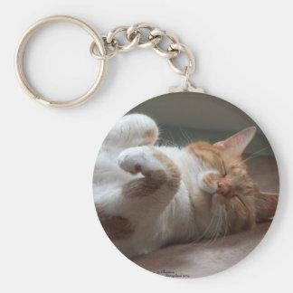 かわいい猫の睡眠Keychain キーホルダー