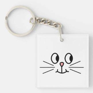 かわいい猫の表面 キーホルダー