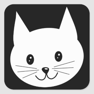 かわいい猫の表面 スクエアシール