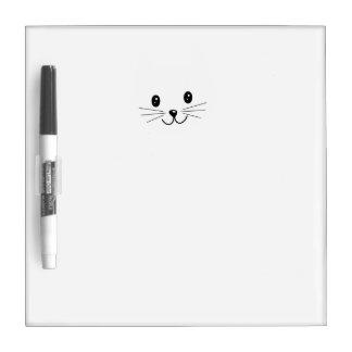 かわいい猫の表面 ホワイトボード