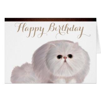 かわいい猫の誕生日の挨拶状 グリーティングカード
