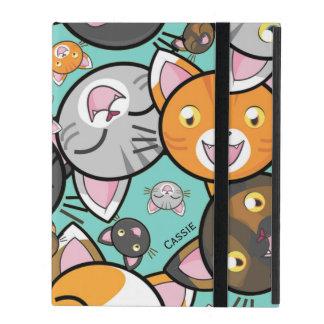 かわいい猫のiPadのフォリオの箱 iPad ケース