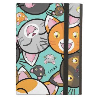かわいい猫のiPadの空気フォリオの箱 iPad Airケース