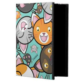かわいい猫のiPadの空気2フォリオの箱 Powis iPad Air 2 ケース