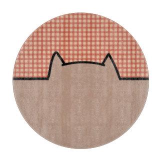 かわいい猫パターン カッティングボード