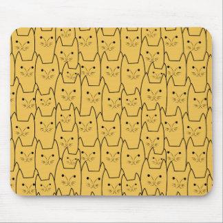 かわいい猫パターン マウスパッド