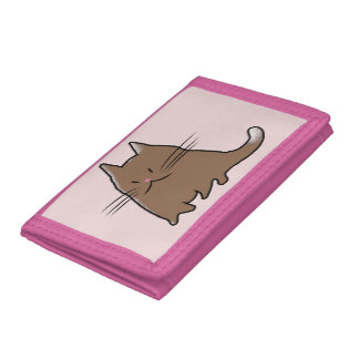 かわいい猫 ナイロン三つ折りウォレット