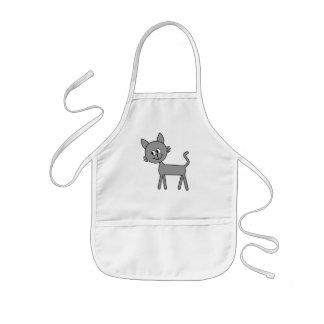 かわいい猫。 灰色に猫の歩くこと 子供用エプロン