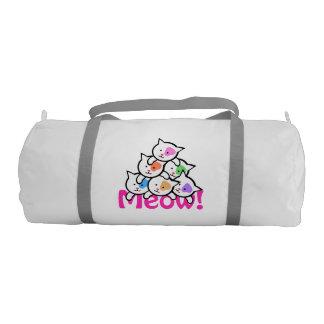 かわいい猫(MeowMeow) ジムバッグ
