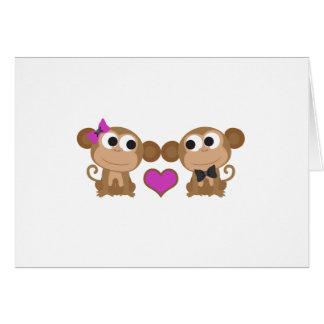 かわいい猿愛 カード