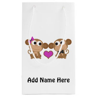 かわいい猿愛 スモールペーパーバッグ