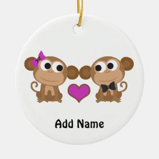 かわいい猿愛 セラミックオーナメント