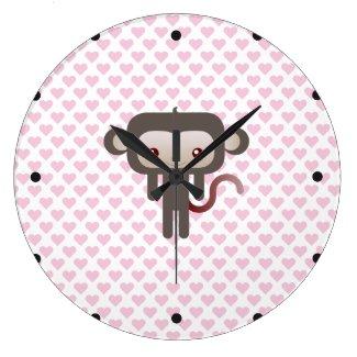 かわいい猿 ウォールクロック