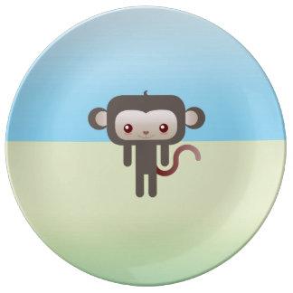 かわいい猿 磁器プレート