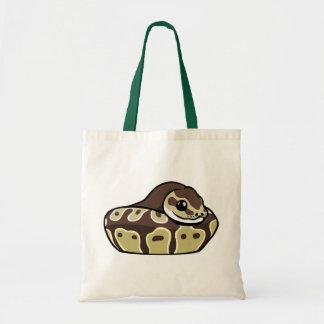 かわいい球の大蛇ペットヘビのスケッチの予算のトートバック トートバッグ