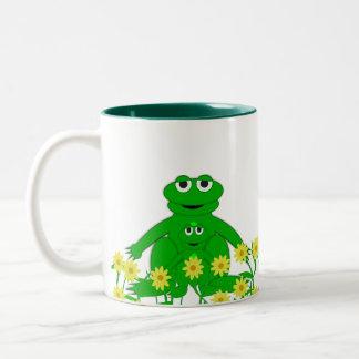 かわいい生き物のコレクションのFroggyのマグ ツートーンマグカップ