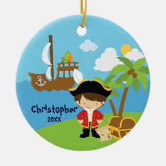 かわいい男の子の海賊クリスマスのオーナメント セラミックオーナメント