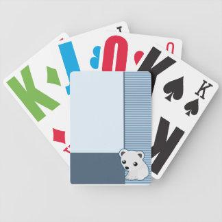 かわいい白くまの青カード バイスクルトランプ