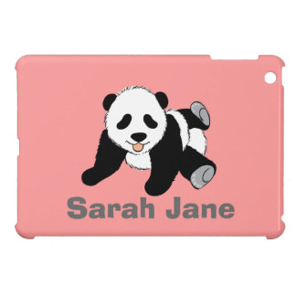 かわいい白黒パンダくまの恋人のギフトの現在 iPad MINIカバー