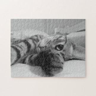 かわいい白黒子ネコ ジグソーパズル