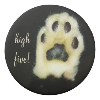 かわいい白黒猫の足はあなたの名前か文字を加えます 消しゴム
