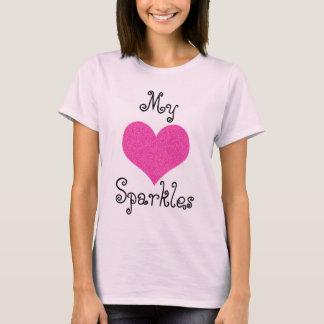 かわいい私のハートの輝きのTシャツ Tシャツ