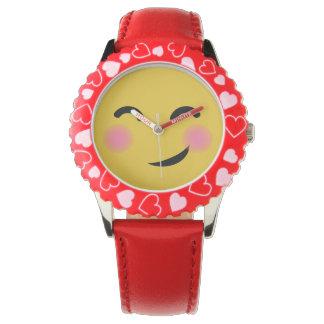 かわいい私を赤面のemoji得ました 腕時計