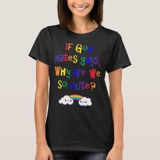 かわいい私達がそうなぜあるか、おもしろいなゲイプライド Tシャツ