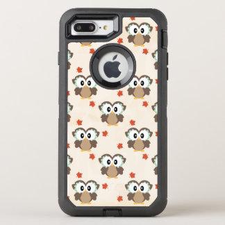 かわいい秋のフクロウ オッターボックスディフェンダーiPhone 8 PLUS/7 PLUSケース
