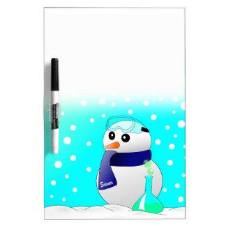 かわいい科学の雪だるま ホワイトボード