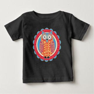 かわいい種族のスタイルのフクロウの漫画 ベビーTシャツ