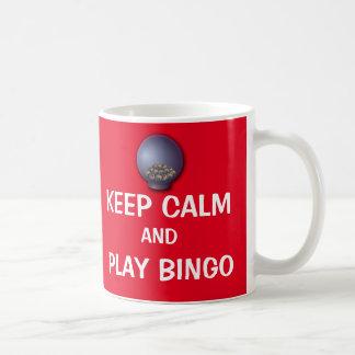 かわいい穏やかなおよび演劇のビンゴのおもしろいなことわざ保って下さい コーヒーマグカップ