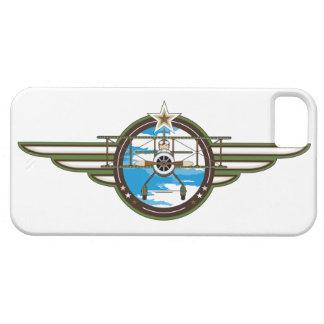 かわいい空軍パイロットおよび複葉機 iPhone 5 ベアリーゼアケース