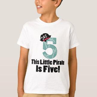 かわいい第5誕生日の海賊 Tシャツ