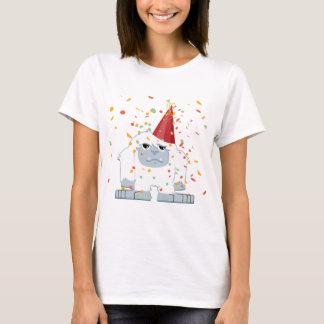 かわいい紙吹雪のパーティーの雪男 Tシャツ