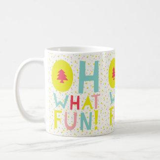 かわいい紙吹雪Ohどんなおもしろいのカラフルな休日のマグ コーヒーマグカップ