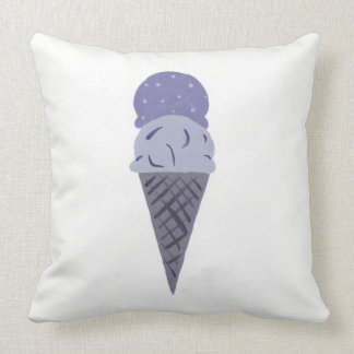 """かわいい紫色のアイスクリームコーンの枕""""生命甘いです""""は クッション"""