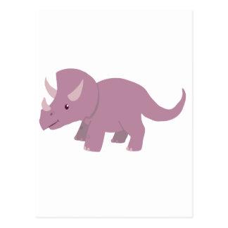 かわいい紫色のトリケラトプス(ベビーのTorosaurus) ポストカード