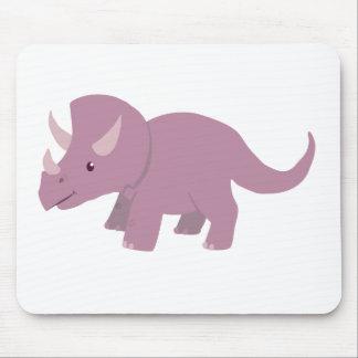 かわいい紫色のトリケラトプス(ベビーのTorosaurus) マウスパッド