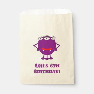 かわいい紫色の漫画モンスター フェイバーバッグ